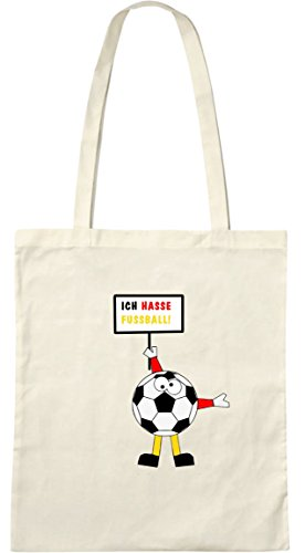 Ich hasse Fußball; Stofftasche weiß