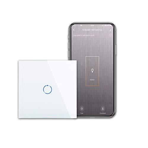CNBINGO WiFi Single Touch Light Switch, Smart Switch Work with Alexa/Google...