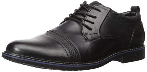 Skechers Bregman Selone, Zapatos de Cordones Oxford Hombre, Black, 42.5 EU