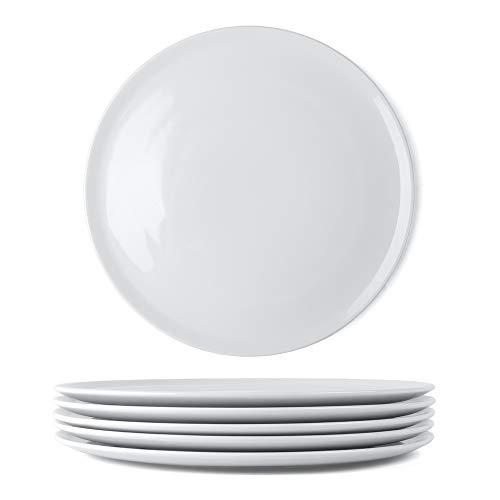 Holst Porzellan 6er Set Profi Pizzateller 31 cm Hartporzellan, Porzellan, Weiß, 31.5 cm