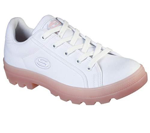 Skechers Roadies Mujer Zapatillas Deportivas Lona Cordones Blanco EUR 41