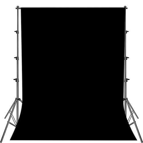 Fotostudio Hintergrund für Fotografie,Faltbare schwarz Screen,1.5 x 2.1m Foto Hintergrund schwarzscreen Stoff,Modefotografie schwarzscreen,Videoaufnahme...