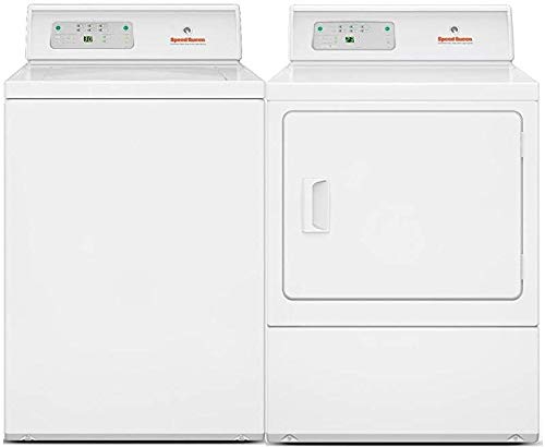 Speed Queen Top Load LWNE22SP115TW01 26' Washer with Front Load LDG30RGS113TW01 24' Gas Dryer Commercial Laundry Pair in White