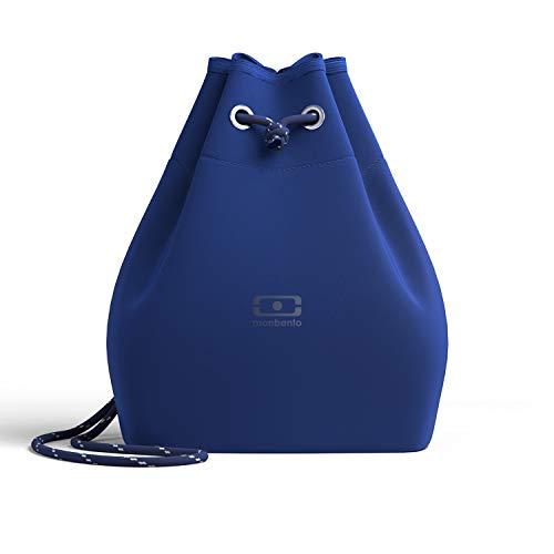 monbento - MB E-zy blau Navy Klein Kühltasche für Bento Box - Klein Ariaprene Kühltasche für die Arbeit - Geeignet für MB Original MB Square & MB Tresor Bento-Boxen