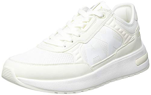Armani Exchange Mens Dusseldorf Volume Sole Running Sneaker, Off White,43 EU