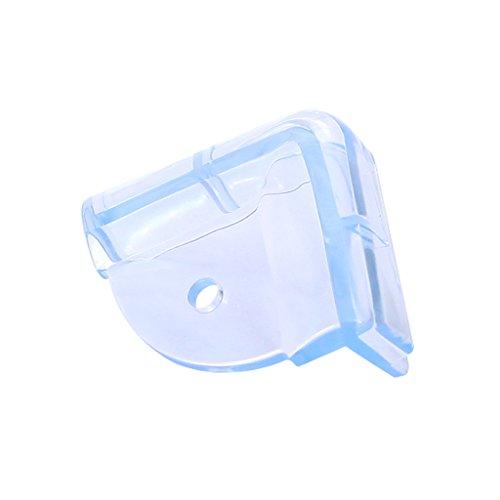 Baby Safety Transparent Bumper Angle Table à café en verre Coin de protection Épaissir Baby Table Case (1 Set 4 Pcs)