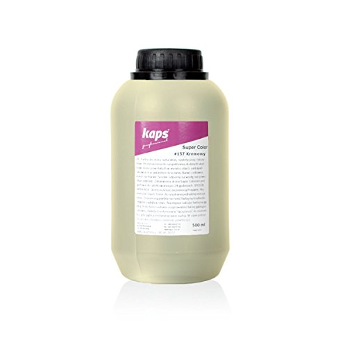 Lederfarbe für Naturleder, Sythetik und Textil. Entwickelt Super Color Kaps 500ml, Creme 137