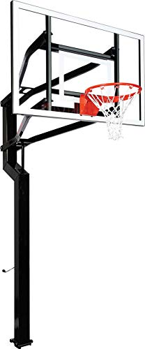 Goalsetter Captain In Ground Adjustable Basketball System with 60-Inch Glass Backboard and Flex Rim