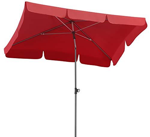 Schneider Sonnenschirm Locarno, rot, 180x120 cm rechteckig, Gestell Stahl, Bespannung Polyester, 2.3 kg