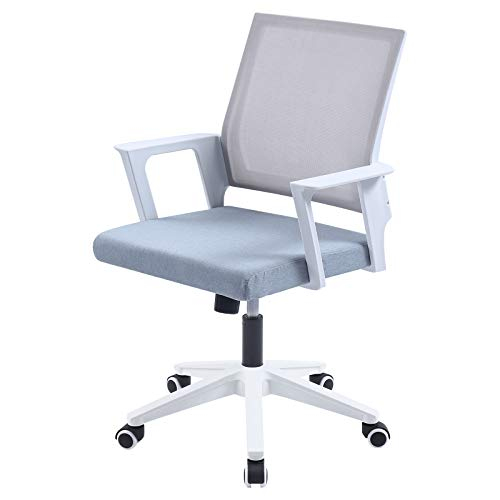 DULE DULE Desk Chair Office Chairs Mesh Computer Chair Ergonomic Mid Back Desk Chair with Armrest Child's Desk and Chair Adult Grey