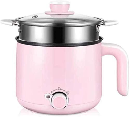 HZYD Cuisinière électrique Dortoir étudiant Cooki Pot Noodle Mini Hot Pot Petit Wattage Maison multi-fonction nouilles instantanées Petit Pot électrique (Couleur: Blanc) (Couleur: Rose), Couleur: Rose