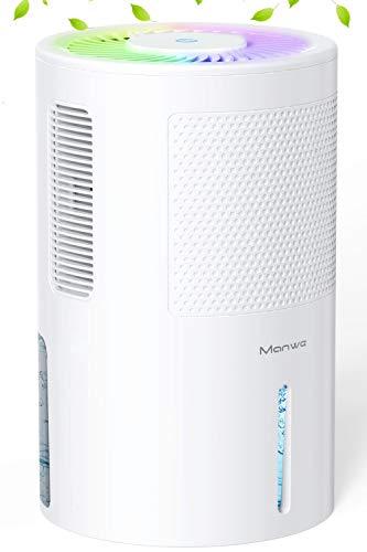 Manwe 1,8L Luftentfeuchter Elektrisch Entfeuchter Raumentfeuchter Leise Dehumidifier, Luftreinigung und Gegen Feuchtigkeit, Schimmel, Schadstoffe