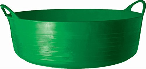 Tubtrugs 35L Large Shallow Flexible 2-Handled Recycled Tub, Green