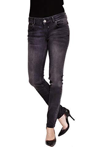 Coccara Damen Jeanshose Röhrnejeans 5 Pocket Vintage Skinny Fit Curly, Größe:W29 / L32, Farbe:CW9117 - Black/Black