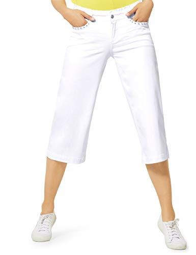 Street One 373170 Jeans, White, W30/L22 Donna