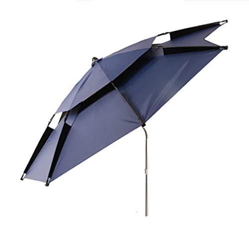 Parasols Outdoor fishing umbrella Cyan blue 2.2 m / 2.4 m fishing umbrella universal rain sun protection sun umbrella folding umbrella (Size : 2.4m)