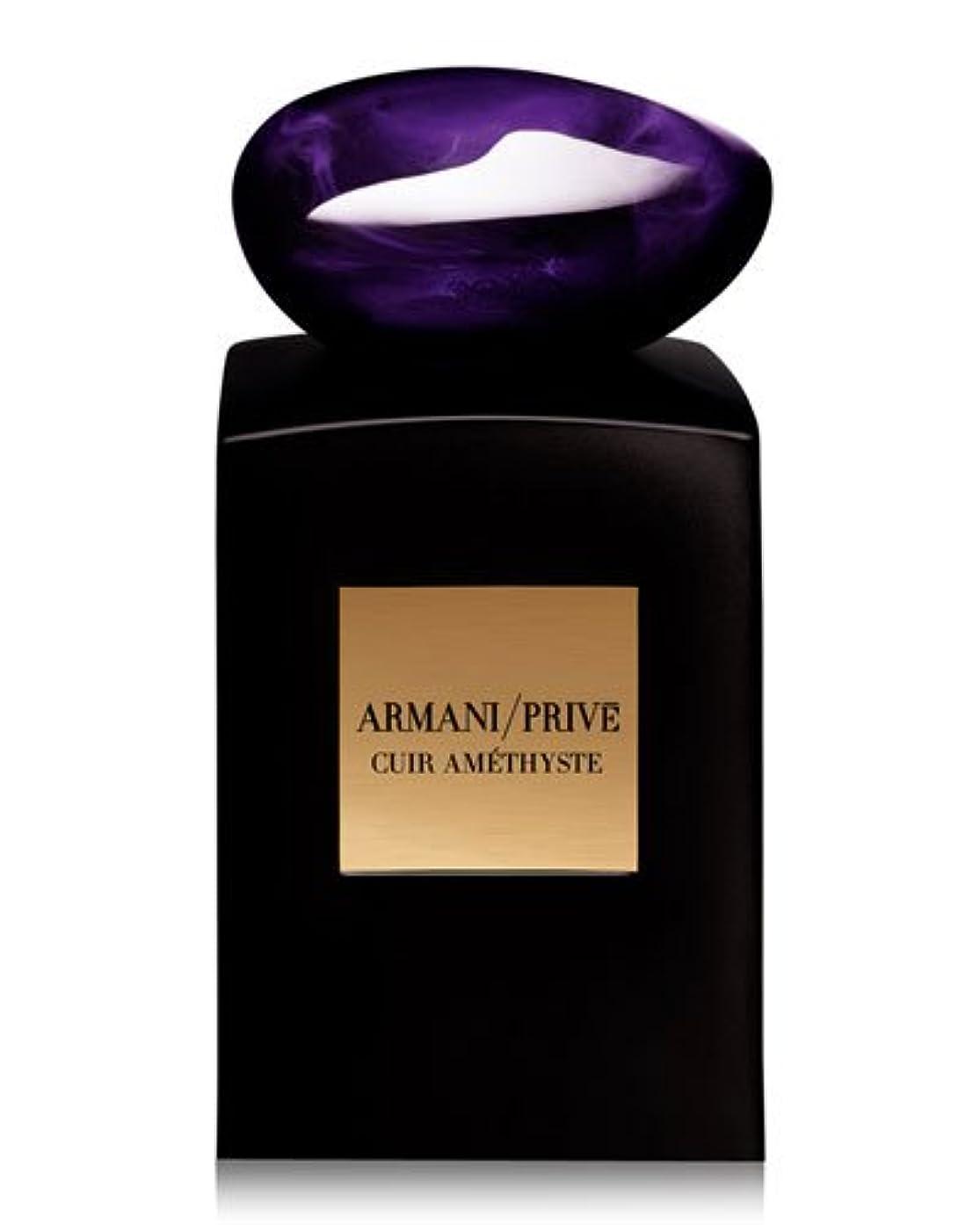 光電年次才能Armani Prive Cuir Amethyste (アルマーニ プリベ キュア アメジスト) 3.4 oz (100ml) EDP Spray by Giorgio Armani for Men