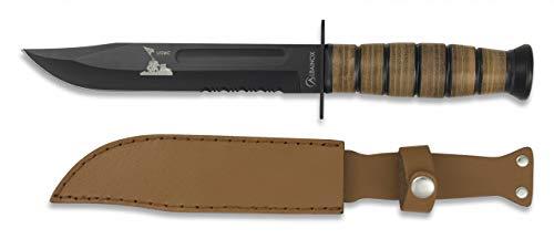 Albainox 31762 Cuchillo ALBAINOX Supervivencia.C/Funda. 18 cm Herramienta para Caza, Pesca, Camping, Outdoor, Supervivencia y...