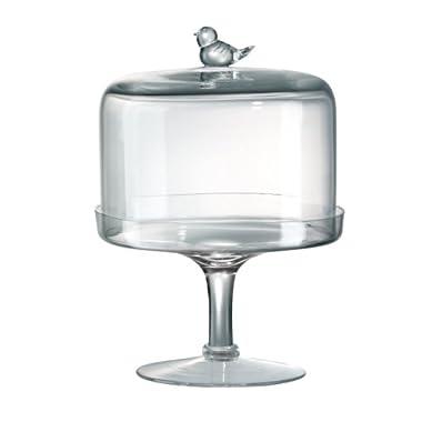 Songbird Pedestal Dessert Stand With Dome,8  H X8