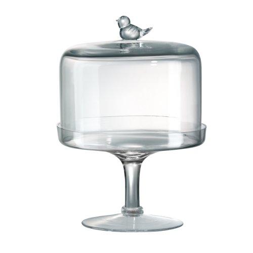 "Songbird Pedestal Dessert Stand With Dome,8"" H X8"""