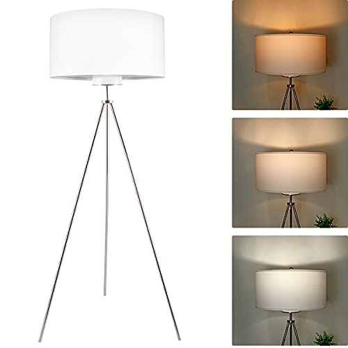 Tripod LED Floor Lamp, 2700K 4000K 5000K Industrial Floor Lamp, 810 Lumens Bright Floor Lamp with 3 Colors Bulb {Expires 10/22} [Coupon: O7V965F3] (50% OFF ) - $19.99