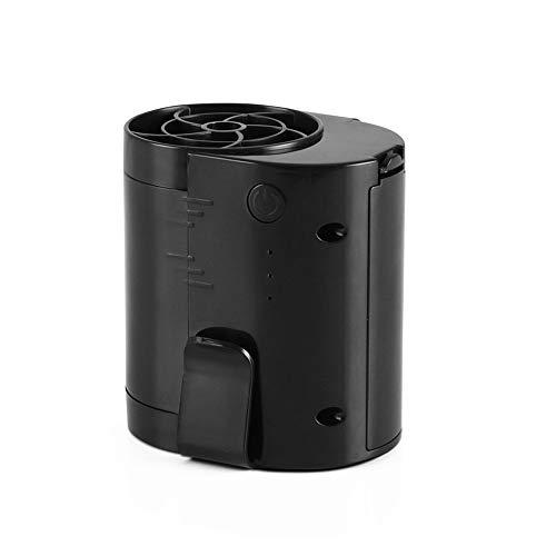 NCBH Draagbare ventilator, kleine persoonlijke ventilator om op te hangen aan de taille, met mini-accu-ventilator, oplaadbaar via USB voor binnen en buiten