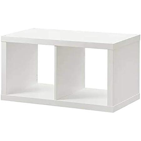 Ikea Kallax - Estantería (2 unidades, 77 x 42 cm), color blanco ...