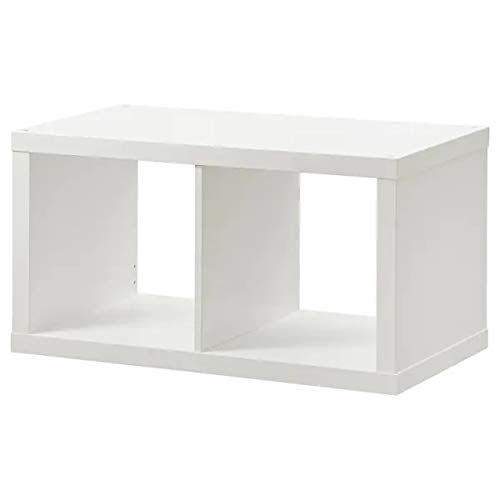 2 x IKEA Kallax hyllenhet i vitt (77 x 42 cm)
