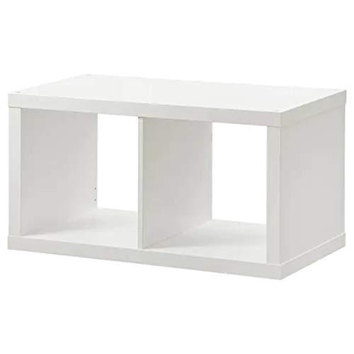 Ikea, 2 mensole Kallax, colore bianco (77 x 42 cm)