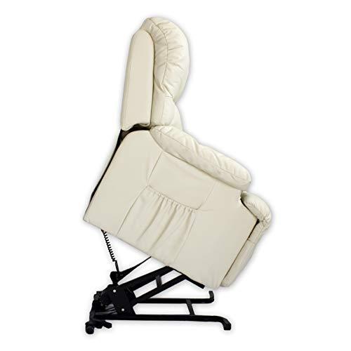 ABDC NEW Delta Shop – Poltrona massaggiante Relax LEVANTAPERSONAS 8 motori + calore lombare, colore: beige