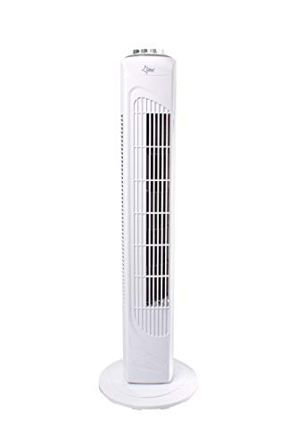 SUNTEC Turmventilator mit Timer | Säulenventilator Weiss | CoolBreeze 7400TV - Leise 45 Watt | Ventilator 3 Stufen | Turm Fan Kühler Windmaschine | für Schlafzimmer, Büro, Balkon