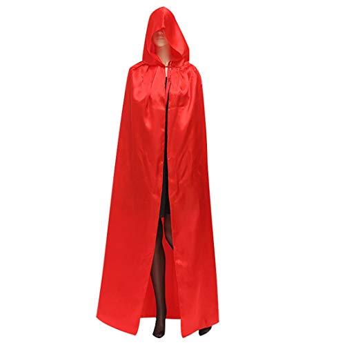 Swiftswan Disfraz de Halloween para Cosplay, para la Edad Media, Bata de monjes y Wizar, Rosso
