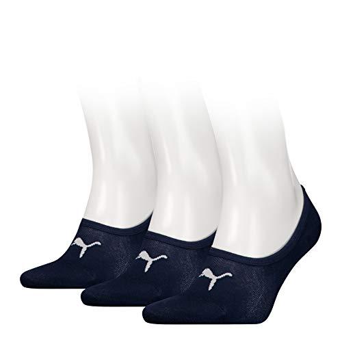 Puma Footie 3P Chaussettes de Sport Homme, Bleu (Navy 321), 35/38 (Taille fabricant:035) (Lot de 3)