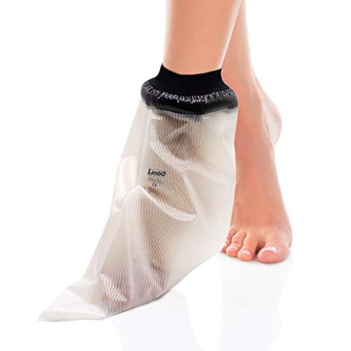 Protection imperméable de pied LimbO – Housse de protection de douche étanche pour bandages et pansements - (M20 (M25 (26-34 cm autour de la cheville))