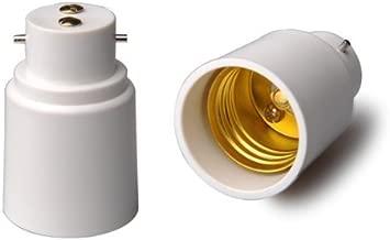 YiLighting - B22 to E26/E27 Edison Screw Base Adapter Converter For LED Halogen CFL Light Lamp (2 Pack)