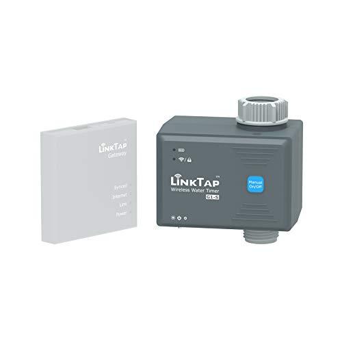 LinkTap G1S Temporizador Agua Automatico - Requiere Gateway - Controlador de Riego de Jardín Automatico Inteligente con App, Conciencia Climática, Control Manual con Bloqueo Digital, Impermeable IP66