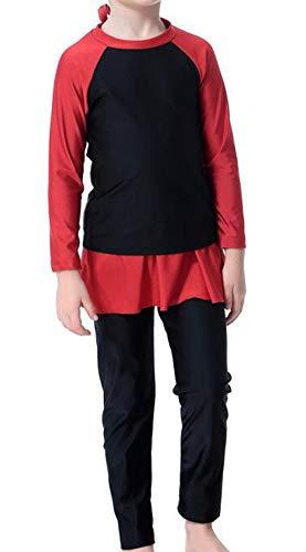 TianMai Moslim Badpakken voor Meisjes Kinderen Islamitische 3 Stuk Volledige Cover Bescheiden Zwemkleding Hijab Kostuums