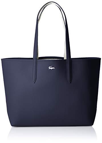 Lacoste Anna, Sac porté épaule Femme,Bleu, 14x30x35...