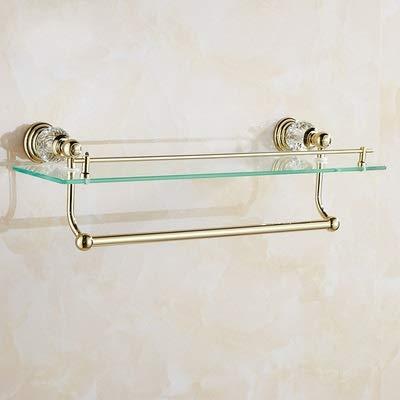 L.J.JZDY Conjunto de Accesorios de baño Toalla de cerámica Towe Bar Estante de la Esquina del Anillo de Oro de baño Set de Accesorios de latón Pulido de Toallas montado en la Pared