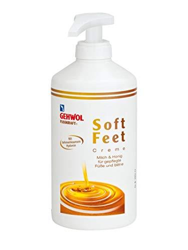 GEHWOL Fusskraft Soft Feet, Fußcreme mit Hyaluron, Urea, 500 ml mit Spender