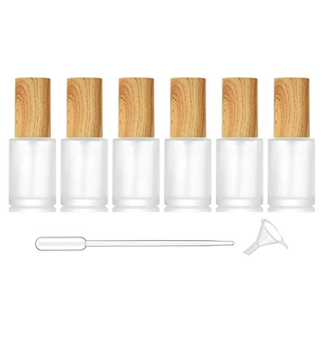 6 paquetes de botellas de cristal esmerilado para perfumes, atomizadores de niebla fina, botellas de spray de viaje para aceites esenciales, aromaterapia, líquidos (30 ml)
