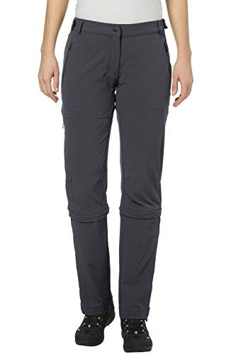 Vaude Damen Farley Stretch Capri T-Zip Ii Hose, grau (basalt), M (Herstellergröße: 40)
