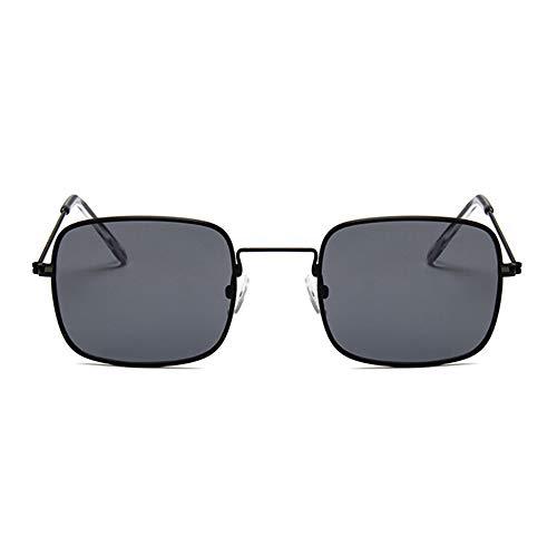 NXMRN Gafas De Sol Gafas De Sol Cuadradas Transparentes Retro Mujer Hombre Gafas De Sol Para Mujer Gafas De Sol Pequeñas De Hip Hop-negro