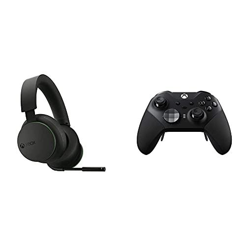 Microsoft Xbox Wireless Headset WRLS + Microsoft - Mando Xbox One Elite Wireless Controller Series 2, Negro