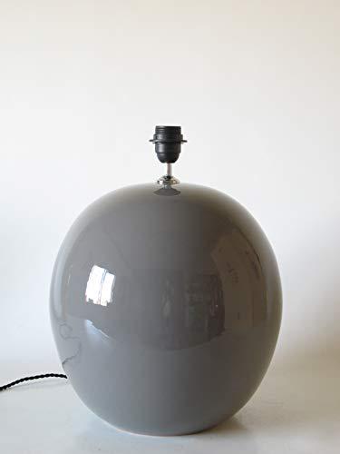 Lámpara de Ceramica Sobremesa Macro Hall Gris de 35 cm Ocre, E27, 60 W - Pie de Lámpara de Cerámica Sobremesa Gris Medio