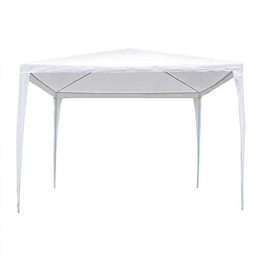 Estink Garden Gazebo Steel + Oxford Fabric, Waterproof and Sun Resistant, 3 x 3 m, Waterproof Pop Up Gazebo