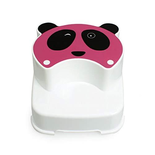 Z-STOOL Tabouret De Toilette Kids Steps Stool Tabouret Double Step for Enfants The Winking Panda Fun Salle De Bain Toilette Formation (Color : Pink)