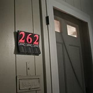 Ez-view Solar Powered Illuminated Address Numbers Sign - Set of 4