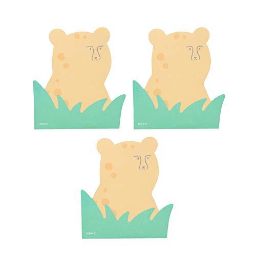 【ICONIC DESIGN】 アイコニック ピーカブー ブロックメモ 180枚セット(チーター) かわいい メモ帳 キャラクター ミニカード ポイントメモ システム手帳 デコ【Amazon.co.jp限定】