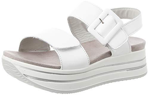 IGI&Co Damen Sandalo Donna Dya 51755 Plateau Sandalen, Weiß (Bianco 5175511), 36 EU